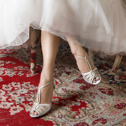 chaussures mariage retro